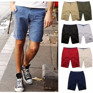 New-Mens-Chino-Shorts-Casual-Cotton-Cargo-Combat-Beach-Half-Pant-Trousers-Summer