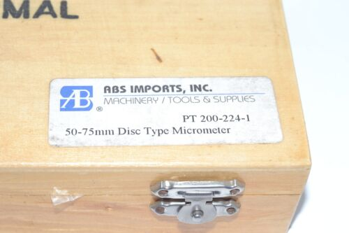 NEW ABS 50-75mm Gear Tooth Disc Micrometer PT 200-224-1