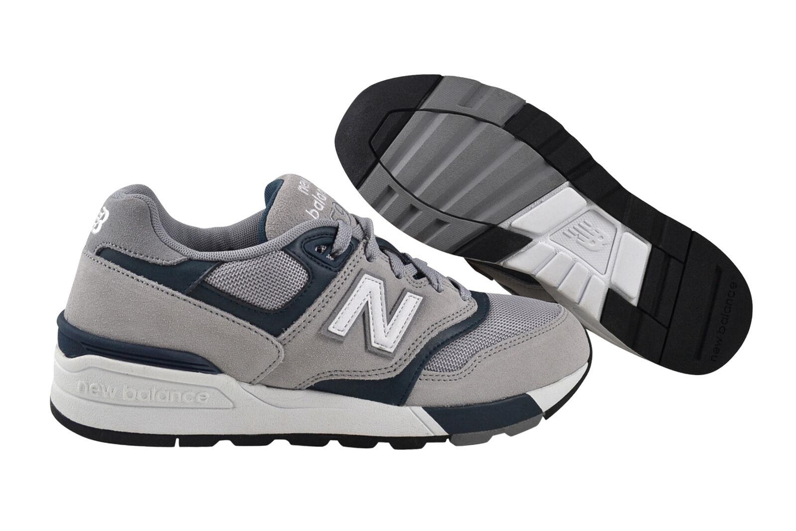 New Balance ML597 GSC grey teal Schuhe Sneaker grau