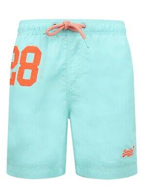 Superdry m30018at q2r Herren Wasserball Sommer Strand Schwimmen Shorts Light lagoon blau | eBay