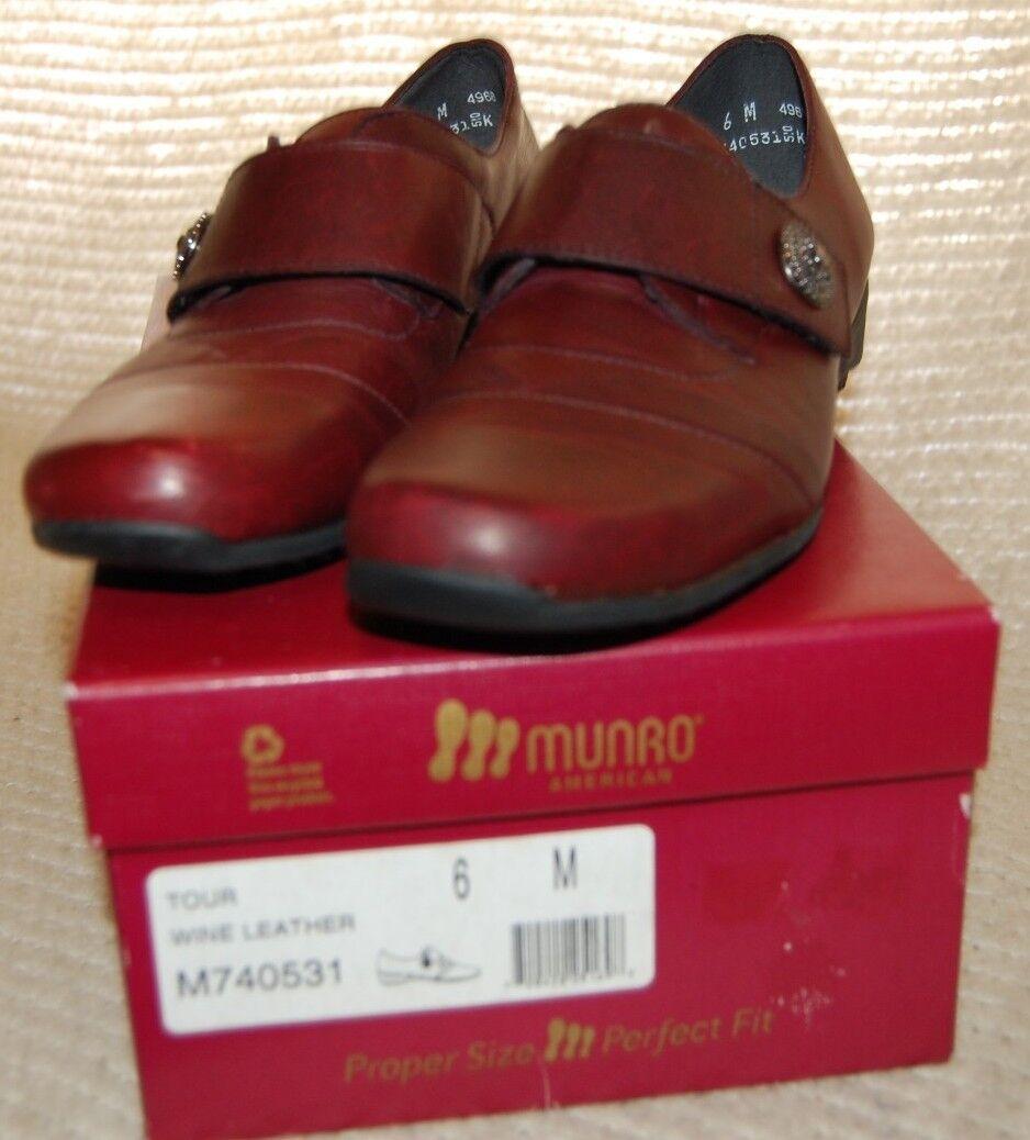 miglior prezzo Donna Donna Donna  Munro Tour Wine Slipon scarpe New with Box 6 M Free Shipping  acquistare ora