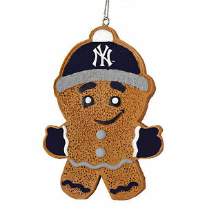 image is loading new york yankees gingerbread man christmas tree ornament