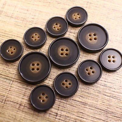 Brown Button J409 15//20mm Mock Horn Suit Jacket Blazer Sport Trench Coat Set DIY