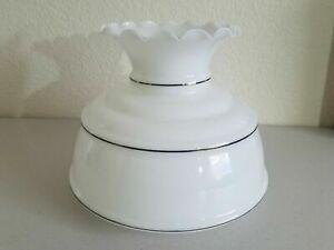 HUGE-Vintage-milk-glass-GWTW-oil-kerosene-lamp-shade-w-ruffled-top