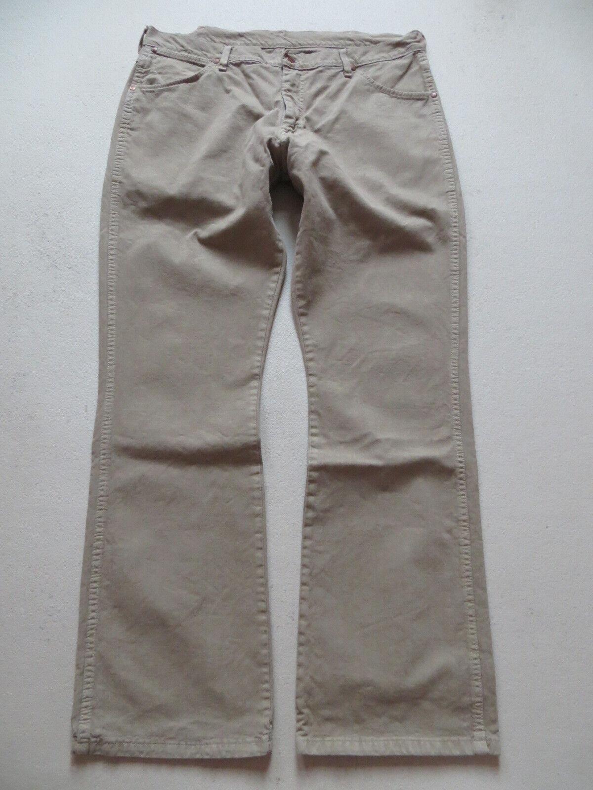 Wrangler DAYTON Stiefelcut Jeans Hose Hose Hose W 38  L 34, khaki   seltene Farbe, Sehr gut 84d376