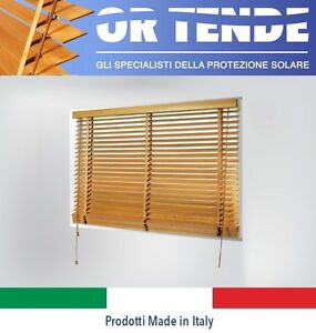 Tende Veneziane In Legno.Details About Wooden Venetian Blinds To Measure Not Chinese Kit Italian Production In Milan Show Original Title