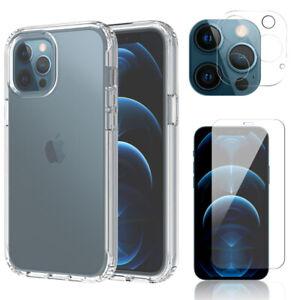 For-iPhone-12-Pro-Max-Mini-5G-Clear-Slim-TPU-Case-Cover-Camera-Screen-Protector