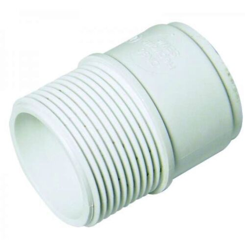 """FLOPLAST 40mm 1.1//2/"""" MALE ADAPTOR ADAPTER CONNECTOR WHITE ABS SOLVENT WASTE WELD"""