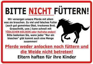Horses-Please-Not-Fed-Tin-Sign-Shield-Metal-7-7-8x11-13-16in-F0301