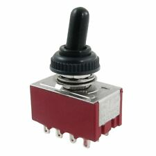 AC 250V 2A 125V 6A on/off/on 4PDT Toggle Switch with Waterproof Boot X7S9 13HE