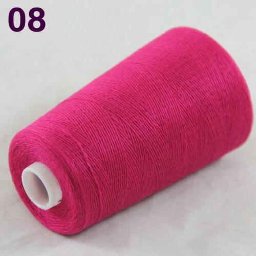 Sale 100g Cone Soft 100/% Cashmere Hand Knitting Crochet Wrap Scarf Yarn Pink 08