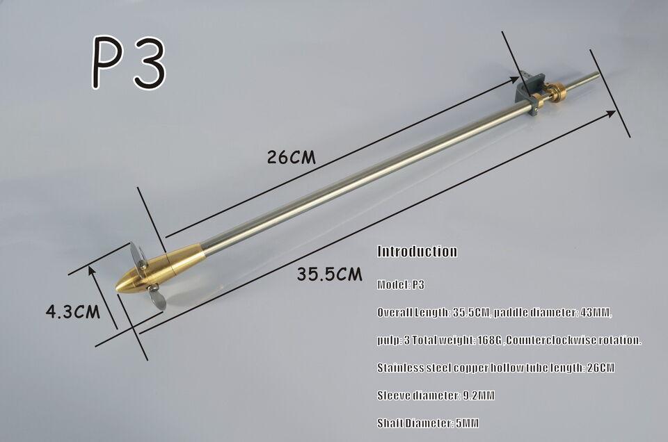 Microcosm P3 Verstellpropeller für DampfStiefel  | Zuverlässige Leistung