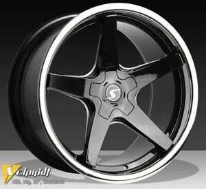 Schmidt-XS5-Noir-Brillant-Jante-9x19-19-Pouces-5x112-Diametre-de-Percage