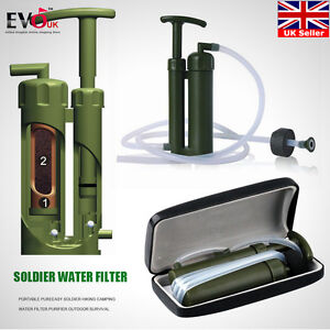 Image is loading Camping-Hiking-Military-Emergency-Water-Filter-Purifier -Outdoor- 62f79ba92fe