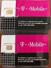 T-Mobile 4G LTE 3 in 1 Triple Cut Sim Card
