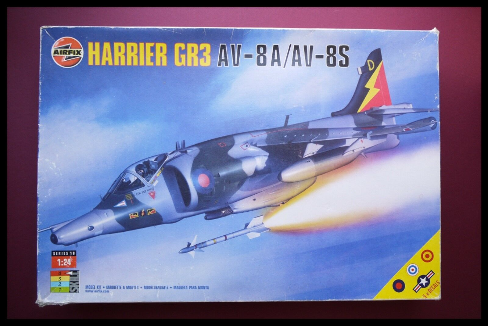 Airfix 1 24 Scale Harrier GR3 AV-8A   AV-8S 18003