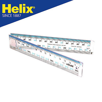 1x 30cm Strong Plastic Coloured Ruler Shatter Resistant Back To School 6 Colours