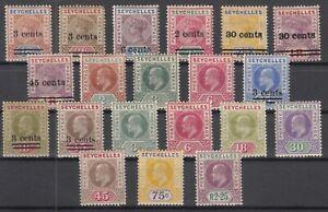 D3015-BRITISH-SEYCHELLES-1901-1906-MINT-MH-CLASSIC-LOT-CV-185