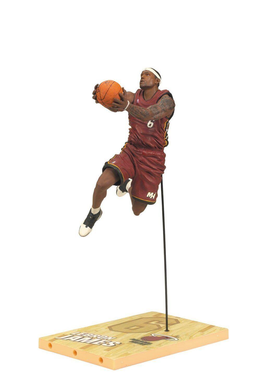 LEBRON JAMES MIAMI HEAT RED ACTION FIGURE MCFARLANE TOYS NBA SERIES 19 BRONZE