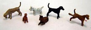 Painted-6-Assorted-Dogs-OO-HO-gauge-figures-Langley-F66p