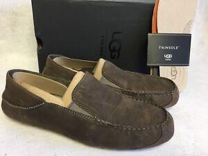 Details about UGG Australia Upshaw Slip On Loafer MOLE Grey Gray Men's 1015607 Shoes Oxfords