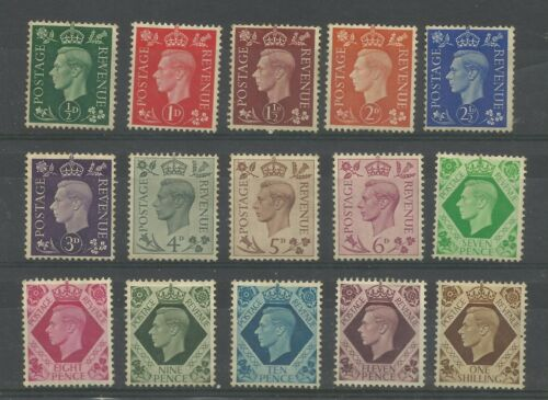 A Set of 1937/47 Dark Colours, Mounted Mint.