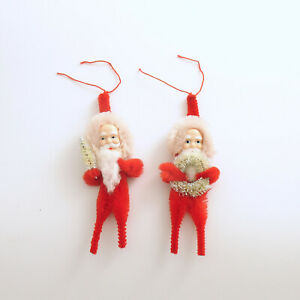 Santa-Ornaments-Chenille-Package-Tie-Ons