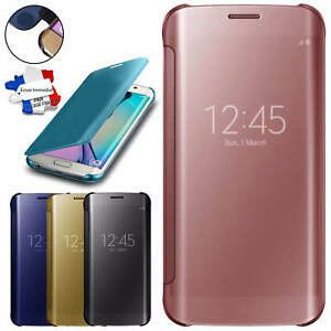 Details about Clear view cover mirror case for samsung galaxy s7 & s7 edge smart card holder- show original title