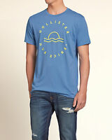 Hollister By A&f Mens Muscle Fit T-shirt Blue Fast Shipping Size Xl