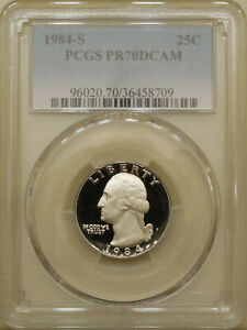 1984-S-Washington-quarter-PCGS-PR-70-DCAM-proof-deep-cameo-PERFECT