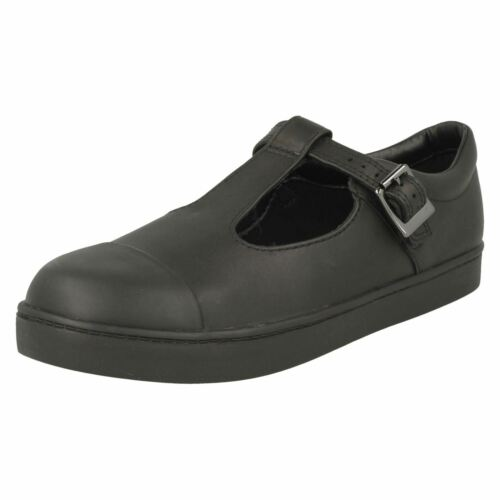 Tea School T Shoes bar Girls City Black Clarks fwBTgF8xq7