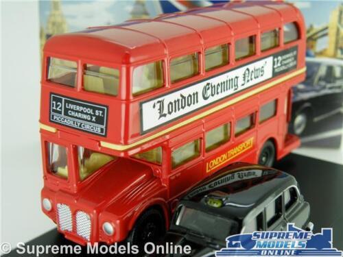 London Bus /& Taxi Coche Modelo Conjunto de Regalo FX4 1:76 scale Oxford LD004 Routemaster K8