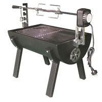 Jumbuck 88 X 36 X 63cm Mini Spit Rondo Charcoal Roaster With Electric Motor