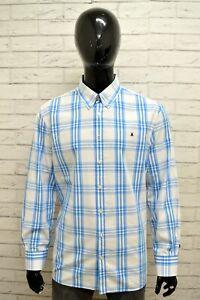 Camicia-GAASTRA-Uomo-Taglia-Size-XL-Maglia-Shirt-Man-Cotone-Quadri-Regular-Blu
