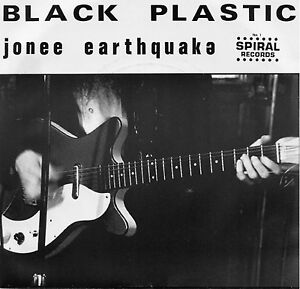 BLACK-PLASTIC-by-Jonee-Earthquake-45-7-034-Vinyl-Record-1980-Garage-Punk-Boston