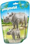 PLAYMOBIL 6638 City Life Zoo Rhino With Baby
