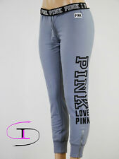 NWT VICTORIA'S SECRET PINK GRAPHIC GRAY SWEAT PANTS  LARGE ZZ280