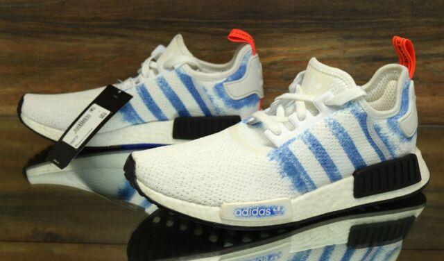Adidas Nmd R2 Primeknit Womens By9520 White Black Boost Running