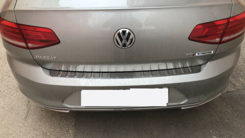 2014Up VW Passat B8 Saloon Chrome Rear Bumper Protector Scratch Guard S.Steel