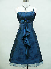 Cherlone Plus Size Blue Prom Ball Evening Formal Bridesmaid Wedding Dress 24-26