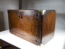 Antique 1940s Bench Made Rustic Pine Amp Brass Collectors Machinist Tool Chest Box