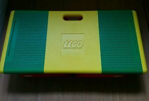 Vintage-LEGO-FOLDABLE-PORTABLE-TABLE-Storage-bins-travel-folding-legs
