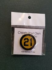 """Roberto Clemente Black & Gold """"21"""" pin -- Commemorating 1973 Player Patch"""