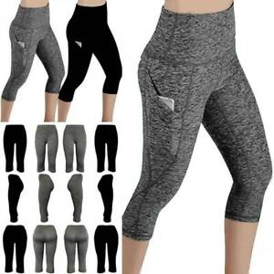 High-Waist-Yoga-Leggings-Womens-Pocket-Sport-Pants-Fitness-Gym-Stretch-Trousers