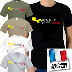 tee shirt renault sport rs s 3xl ebay. Black Bedroom Furniture Sets. Home Design Ideas