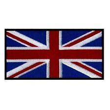 "UK FLAG IRON ON PATCH 3"" Embroidered Applique United Kingdon England English"
