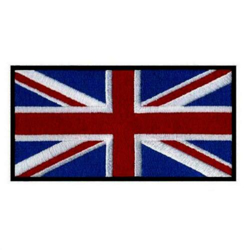 "UK FLAG IRON ON PATCH 3/"" Embroidered Applique United Kingdon England English"