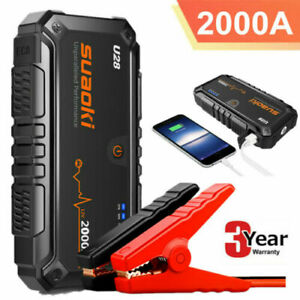 Suaoki-U28-12V-2000A-Car-Jump-Starter-Booster-USB-Battery-Power-Bank-Rescue-Pack