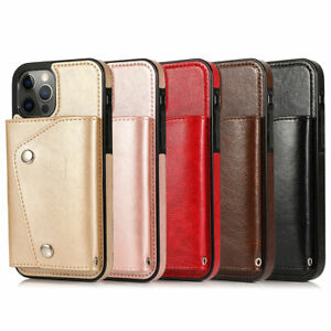 Luxury Handy Wallet Purse Leather Shockproof Case Cover For iPhone 12 13 Pro Max