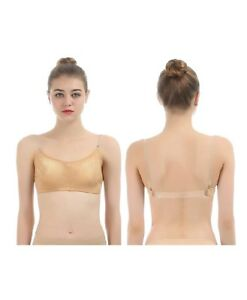 f1ecb88a7c14a Image is loading iMucci-Professional-Beige-Clear-Back-Bra-Seamless-Backless-